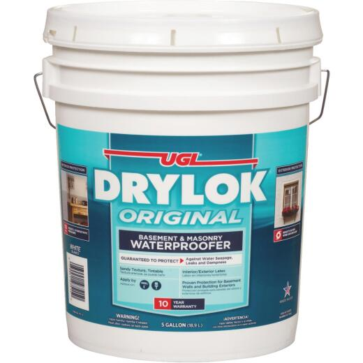 Drylok White Latex Masonry Waterproofer, 5 Gal.