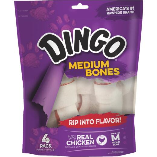 Dingo Chicken Breast Jerky Medium Bone 10 Oz. Rawhide Chew, (4-Pack)