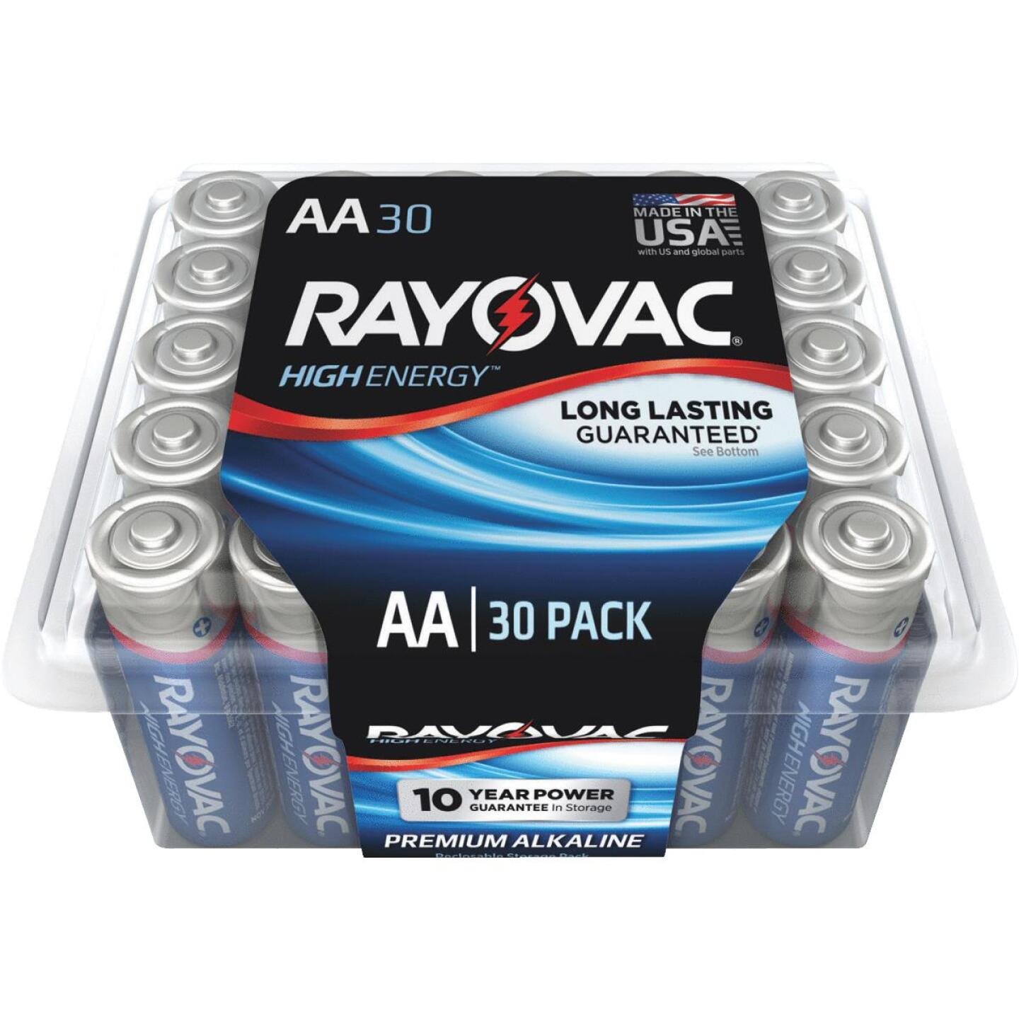 Rayovac High Energy AA Alkaline Battery (30-Pack) Image 1
