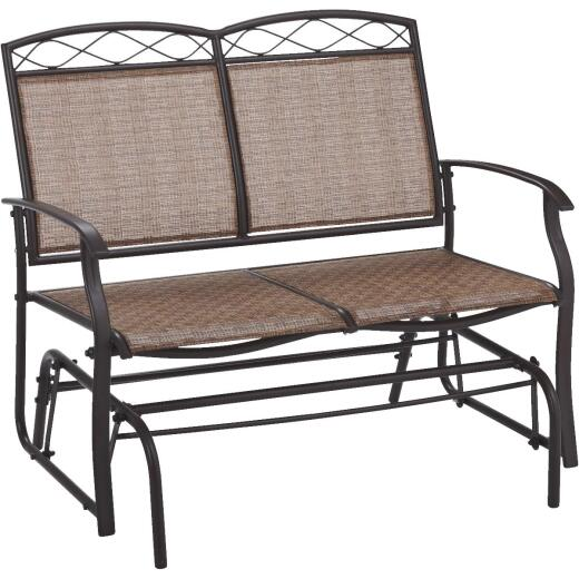 Outdoor Expressions Greenville Brown Steel Brown Glider