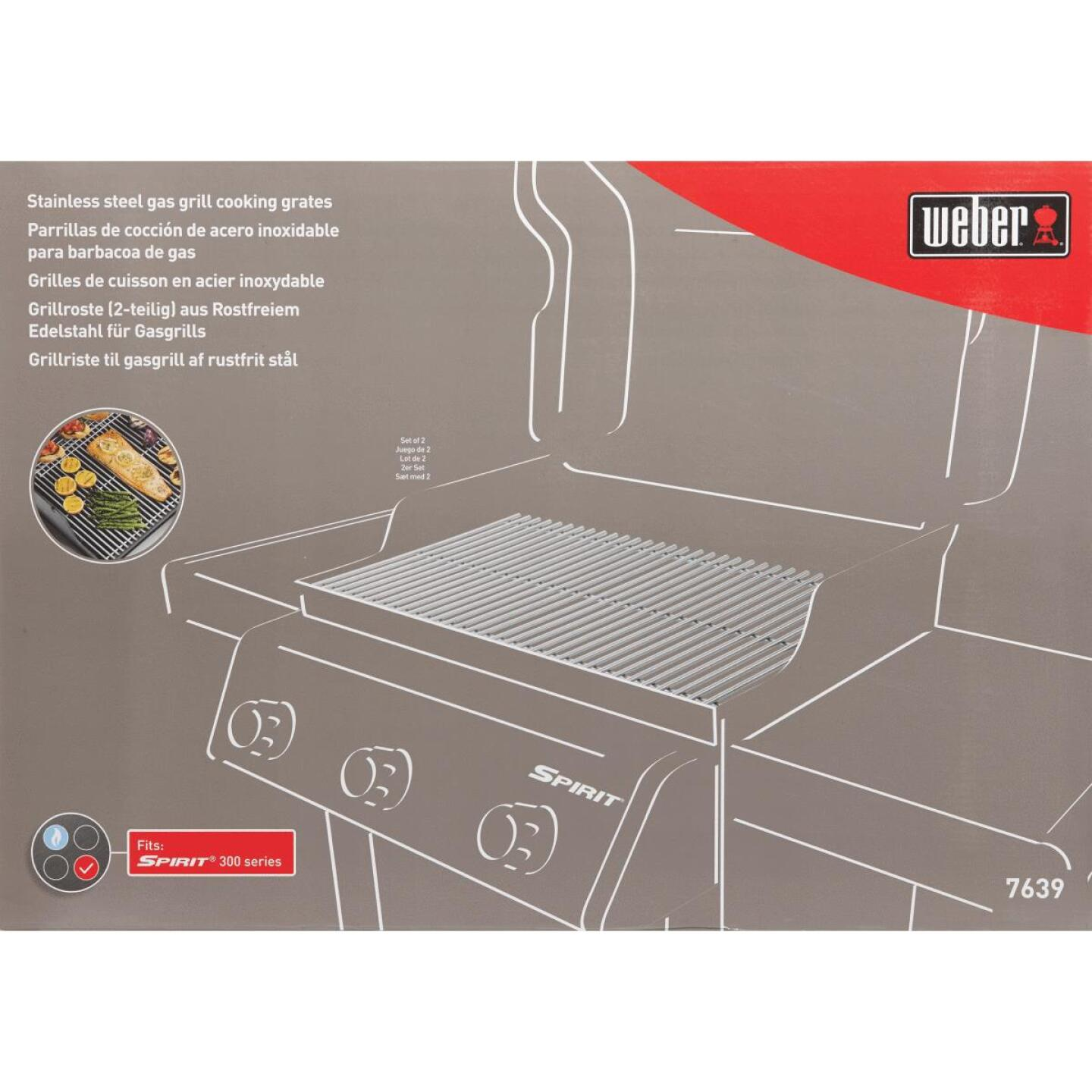 Weber 17.5 In. W. x 11.9 In. D. Stainless Steel Grill Grate Image 2