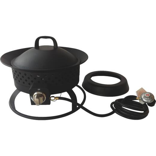 Bond Aurora 18 In. Black Round Steel Gas Fire Pit