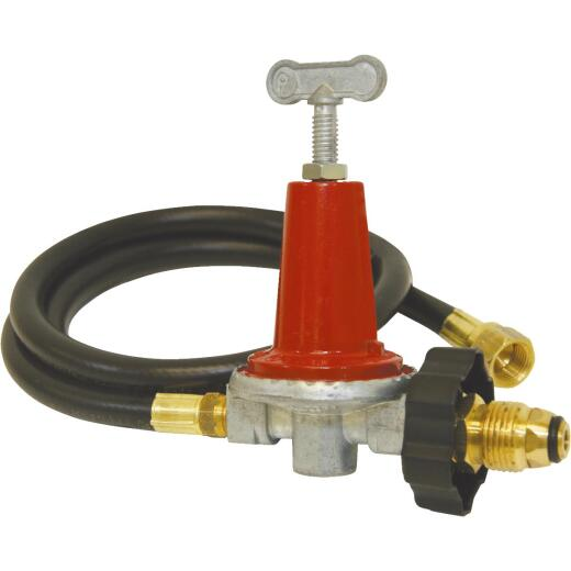 Bayou Classic 48 In. Thermoplastic High Pressure LP Hose & Adjustable Regulator