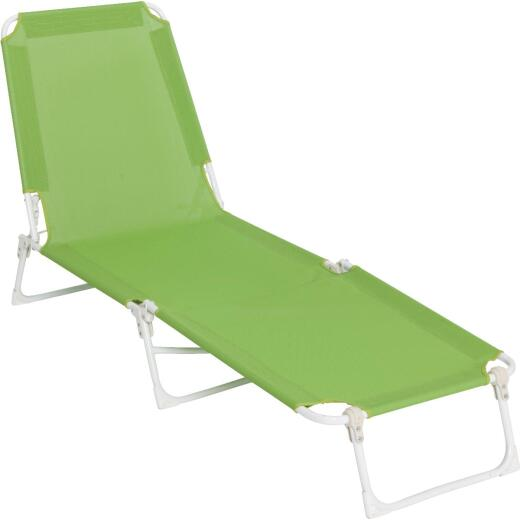 Outdoor Expressions Green Sling Chaise Lounge