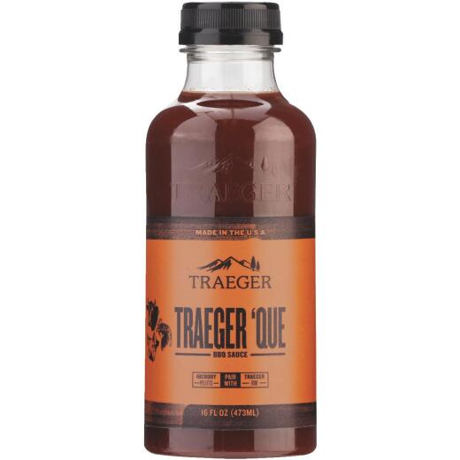 Traeger 'Que 16 Oz. Brown Sugar & Smoky Hickory Flavor Beef, Poultry & Pork Barbeque Sauce