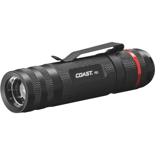 Coast PX1 Black LED Pure Beam Focusing Flashlight