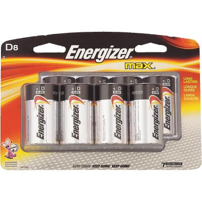 Energizer Max D Alkaline Battery (8-Pack)