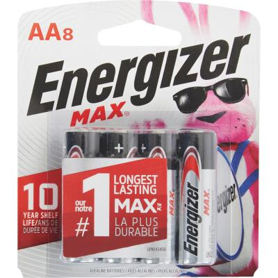 Energizer Max AA Alkaline Battery (8-Pack)