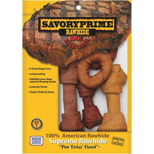 Savory Prime Knotted 8 In. to 9 In. Rawhide Bone