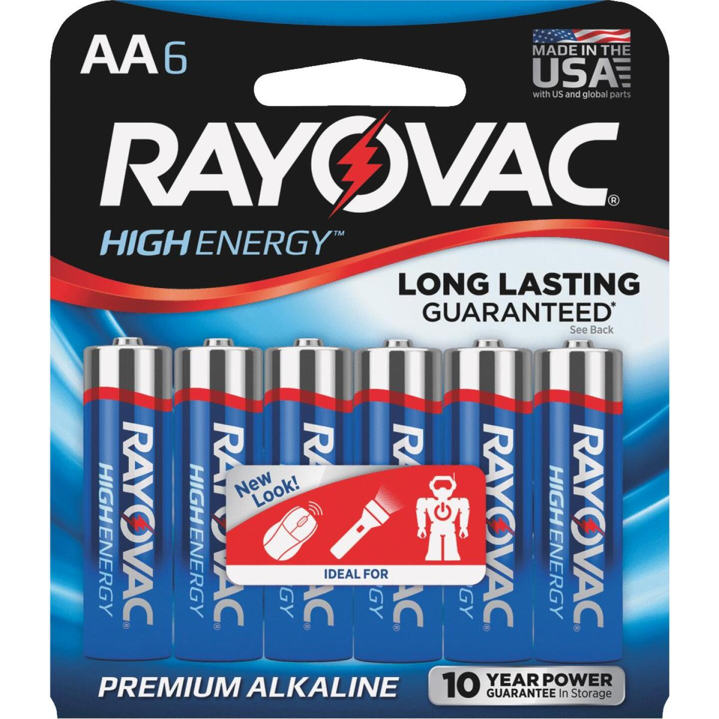 Rayovac High Energy AA Alkaline Battery (6-Pack) Image 1