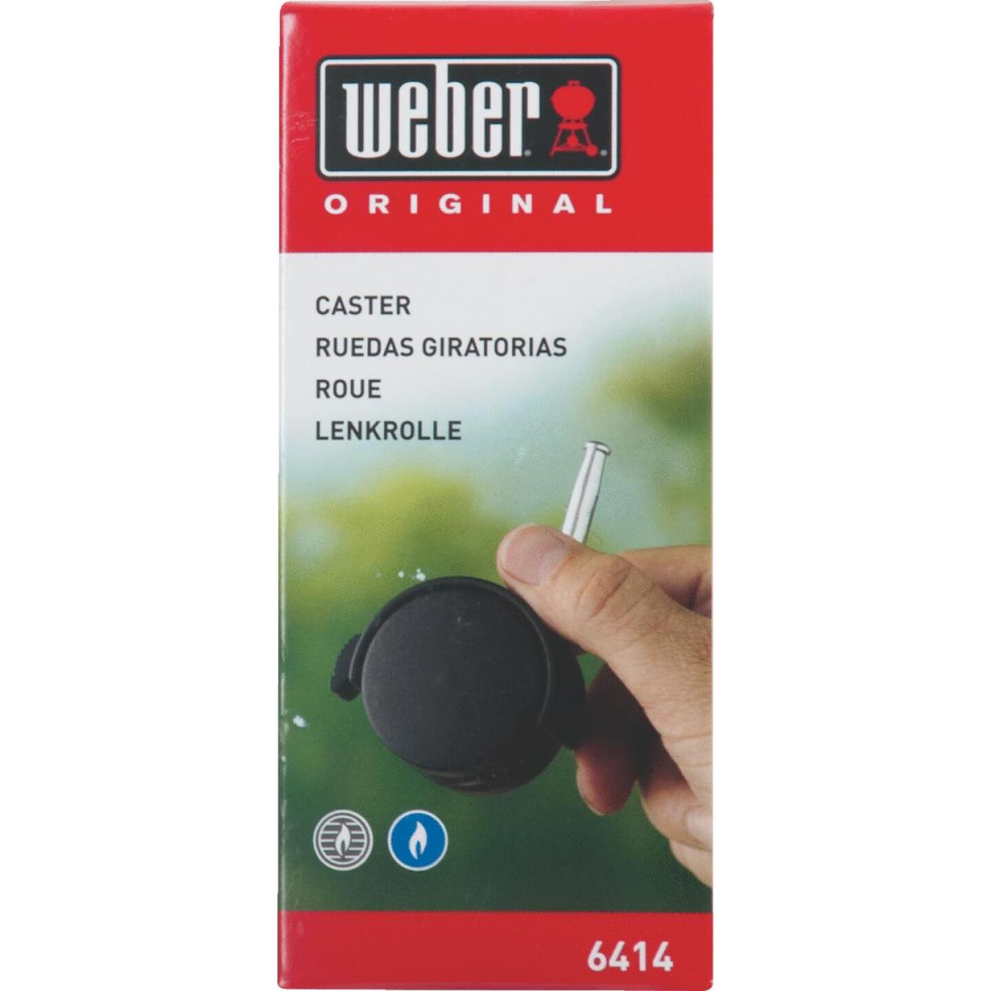 Weber Black Plastic Grill Replacement Caster & Insert Image 1