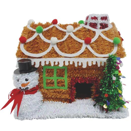 Youngcraft 9 In. Tinsel Tabletop Gingerbread House Holiday Decoration