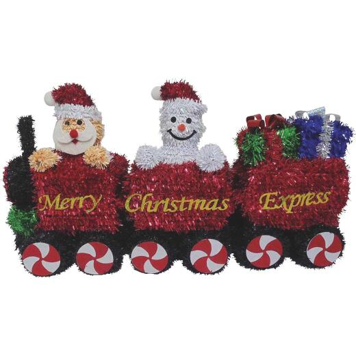 F C Young 15 In. Tinsel Christmas Train Holiday Decoration
