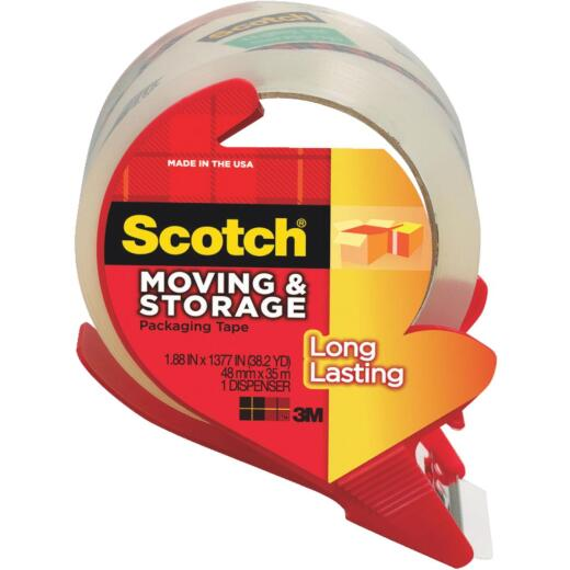 3M Scotch 1.88 In. x 38.2 Yd. Clear Box Sealing Tape
